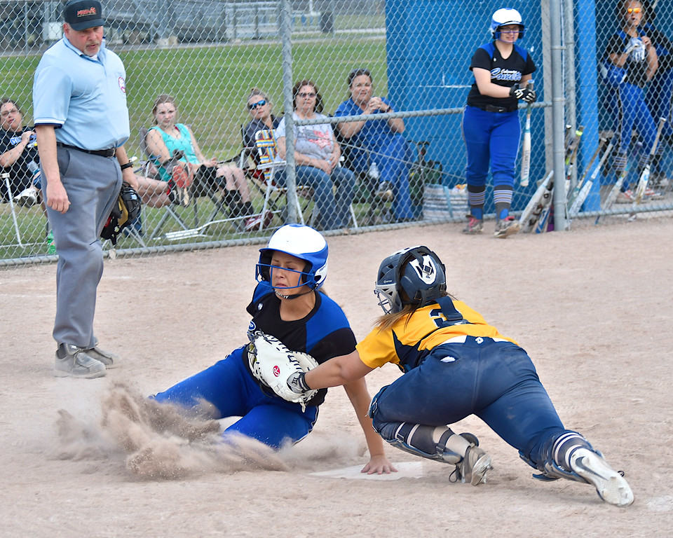 . Coleman swept a doubleheader from Breckenridge at the Comets� field Tuesday, May 1, 2018. (Sun photo gallery by Skip Traynor)