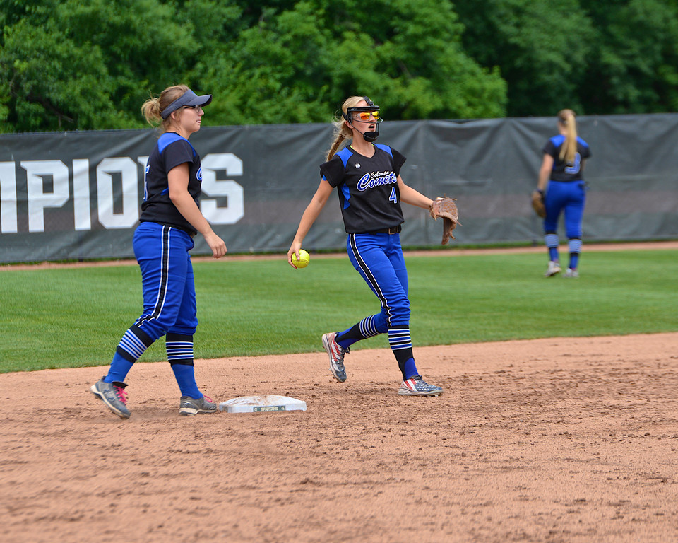 . Coleman advances to the MHSAA Division 4 championship game scoring two runs in the bottom of the sixth inning to edge Rogers City 2-0 at MSU\'s Secchia Stadium Friday, June 15, 2018. (Sun photo gallery by Skip Traynor)