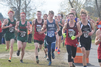 Mt. Pleasant SHA's boys team won its first state title in cross country since 1978 Saturday at MIS. (Sun Photos by JIM LAHDE)