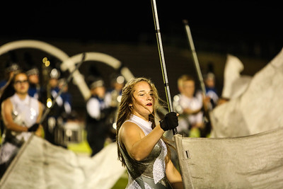 Mt. Pleasant color guard performs at halftime as they host Flint Friday, Sept. 29, 2017.  (PHOTOS BY KEN KADWELL -- FOR MORNINGSUN.COM).