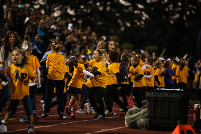 Mt. Pleasant youth cheer celebrate as Flint plays Mt. Pleasant Friday, Sept. 29, 2017.  (PHOTOS BY KEN KADWELL -- FOR MORNINGSUN.COM).