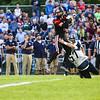 St. Louis' Travis Courter (6) catches a pass over Hemlock's Connor Hahn (57) Friday, September 16, 2016.(PHOTOS BY KEN KADWELL -- FOR MIPREPZONE.COM).