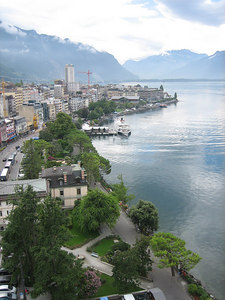 Our first two nights were spent in Montreaux, Switzerland. This was the view from my room...not bad.