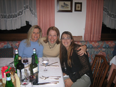 Prologue: Kathie, Pat, and Tammy at the first dinner.