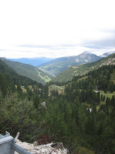 Stage 1: A view between Sella and Passo Gardena.