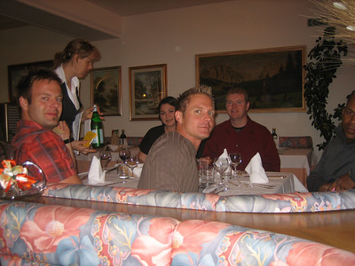 Prologue: Nilas, Kelly, Claus, and Tom at the first dinner.