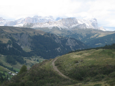 Stage 1: Uh, another view from the Passo Campolongo, or a view from the climb up Passo Pordoi.