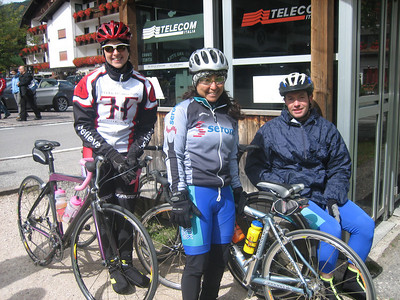 Stage 1: Tammy, Christine, and Michael at the lunch stop.