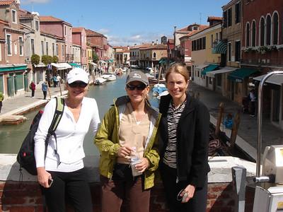 Patti, Karen & Pat in Murano, Italy