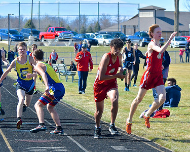 Breckenridge boys and Sacred Heart Academy girls won the Mid-State Activities Conference Jamboree #1 hosted by Montabella Wednesday, April 25, 2018. (Sun photo gallery by Skip Traynor)