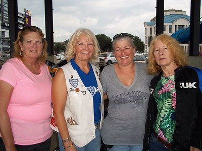 Lunch in Biloxi — with Kathy Wilkinson, Yolie Donley and Stacy Megli Hershey.