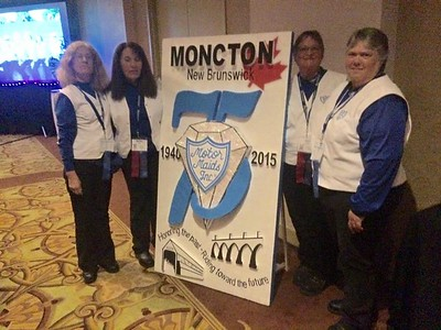 Motor Maids in Moncton, NB — with Becky Ham and Jane Allums.