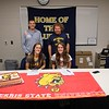 Shepherd's Kylie and Katelyn Hutchinson signed their National-Letters-of-Intent to run at Ferris next fall and then helped the Jays win a TVC crossover meet. (PHOTOS BY JIM LAHDE -- MIPREPZONE.COM)