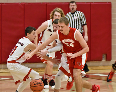 Michigan Lutheran Seminary jumped out to a lead over host St. Louis and maintained the pace Tuesday, Dec. 19, 2017. (Sun photo gallery by Skip Traynor)
