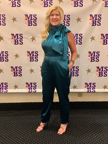 Seal the teal: The popular necktie bows made a huge comeback this year! I'm wearing a teal one-piece jumpsuit with a gigantic necktie bow with a pair of Jimmy Choo snakeskin-embossed sandals. The Z-List wishes all of you a blessed Easter! Stay safe and well!