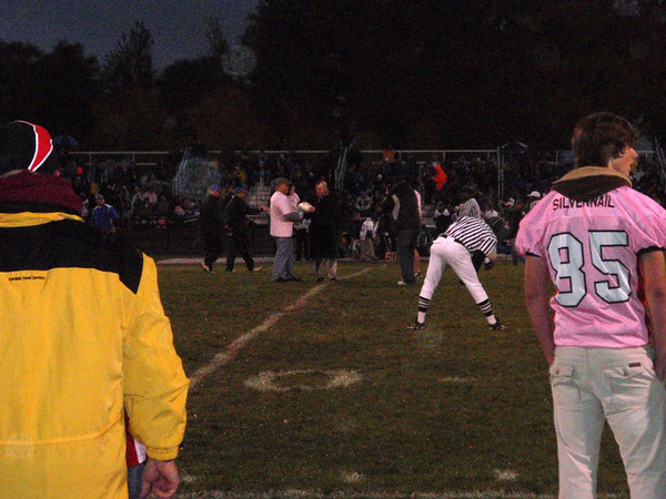 """10/23/09 Middle School Assembly Packer Pink-Out"""