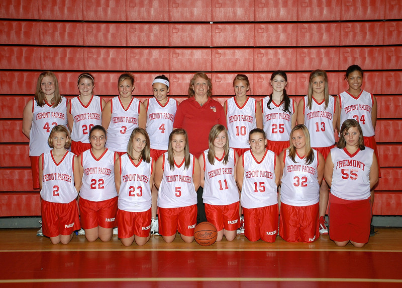 Girls 8th Grade Basketball - 2010-2011 - Fall Team Pictures (Lifetouch)