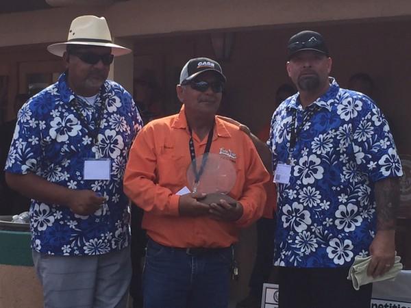 Ricardo Mendoza, City of Lemon Grove - Winner of the Backhoe Competition (Time:  1:13 m:ss)