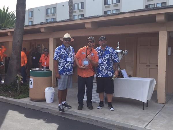 Joe Anderson, City of Encinitas - Winner of the Wheelbarrow Competition (Time:  1:08 m:ss)
