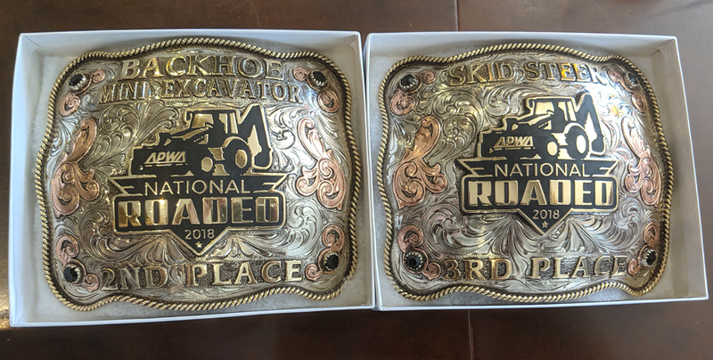 Winners received engraved belt buckles as prizes. Photo: Courtesy Bobby Bond Jr.