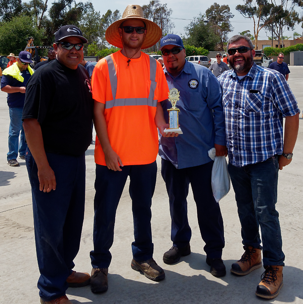 Sign Assembly Skills Test Champion two way tie Michael Espudo, City of Carlsbad and Alberto Gonzales, City of San Diego.