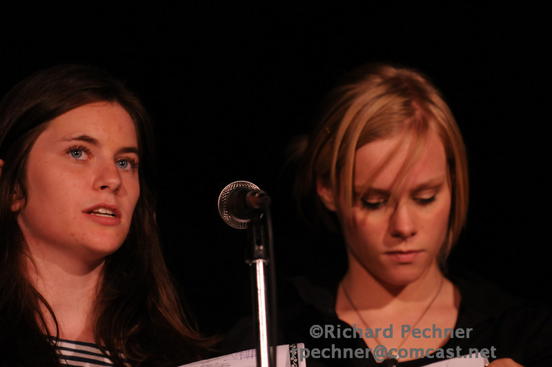 Emcees Lauren Manning (VA'10)  and Rosie Fry (TA'10) starting things off with several funny comedy bits.