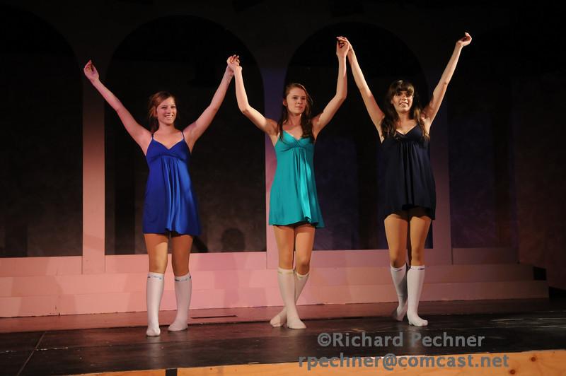 "Rebecca Black, Kristen Martin, & Megan O'Mara dancing ""Sympathy""."