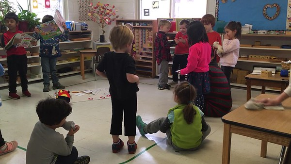 Skye sharing/show and tell.