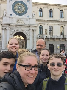 We learned much about Padua when Ben shared his research about the city's origins. Later we gathered in front of the amazing clock tower.