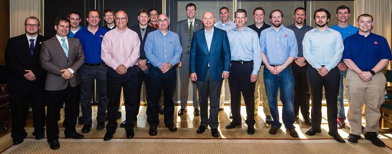 MSOE Computer Engineering Industry Advisory Committee (CE IAC), 2014-05-23: John Krenzer '15, James Conigliaro (Journal Sentinel Inc.), Jason Buttron ('98 CE, Plexus), Kelly Hanaway ('87 EET, QuadTech), Mark Krueger ('90 CSE, NVIDIA), Joe Izzo ('80 EE, Rockwell Automation), Jeff Zingsheim ('90 CS&E, '97 MSEM, Honeywell), Thomas Kraus ('93 CS&E, GE Healthcare), William E. Strangeway (Johnson Controls), Eric Durant ('98 CE/EE, MSOE), Leo Vinitsky (FedEx), Dave Neuman ('97 CE, '03 MSEM, SPR Companies), Greg Treichel ('95 BMS, Robert W. Baird & Co.), Ryan Speiser ('03 CE, NVIDIA), Adam Livingston (MSOE), Darrin Rothe ('92 EE, MSOE), Lucas Bogdan '15, Alexander Tchaikovski '17, Brian Scharles '17