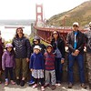 Nerika and family on tour at the Golden Gate Bridge