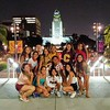 Team Columbia on tour in D.T.L.A. after syncro-swimming