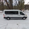 Passengers stay warm with the vans powerful heating system