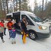 Taking passengers up to the snow near Angelus Oaks