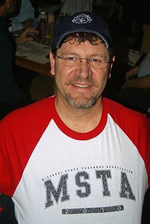 Bob shows off his Missouri State Teachers Association tee shirt