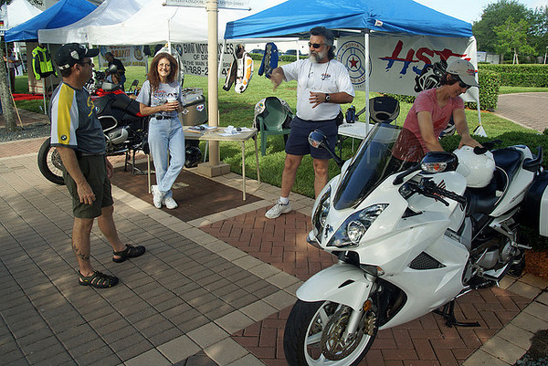 HSTA Booth at Riding into History Bike Show