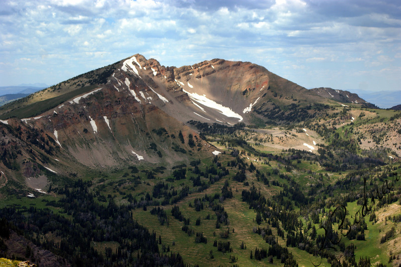 Photo By Bob Bodnar....................Mt. Jefferson viewed from Sawtell Peak, Just West of Yellowstone in Idaho on RT. 20