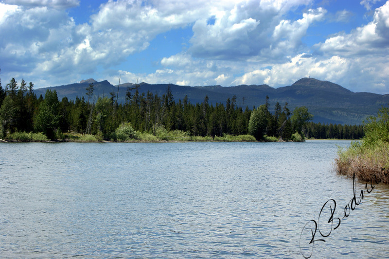 Photo By Bob Bodnar..............View of Sawtelle Mountain from Henry's Fork of the Snake River, Island Park, Idaho