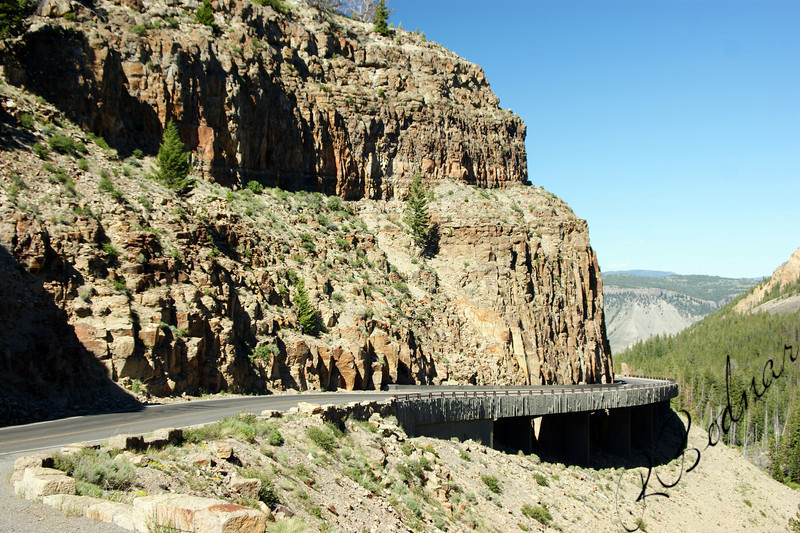 Photo By Bob Bodnar.....................................Road Going to Jackson Hole WY.  from Idaho