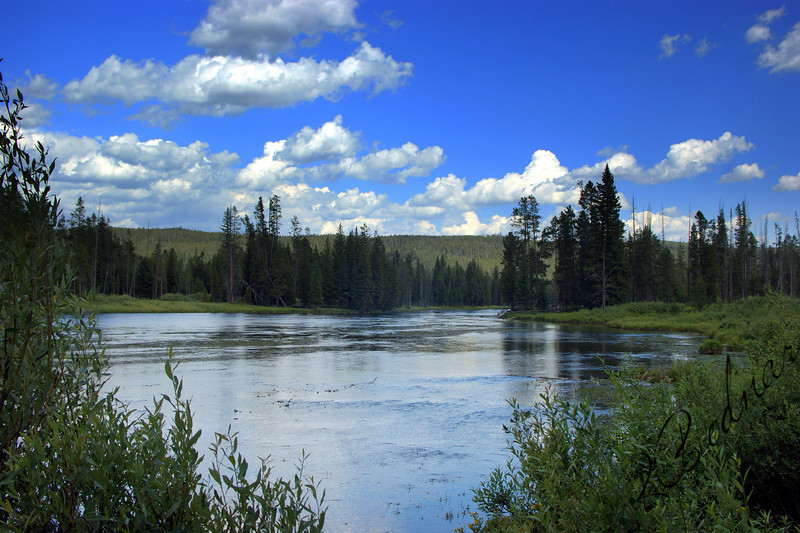 Photo By Bob Bodnar.................View of Big Springs Recreation area, Island Park, Idaho