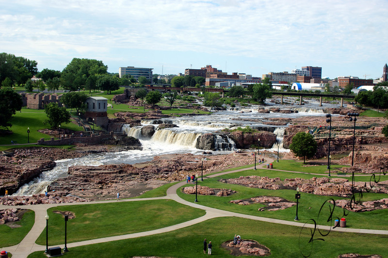 Photo By Bob Bodnar................................Park in Downtown Sioux Falls South Dakota