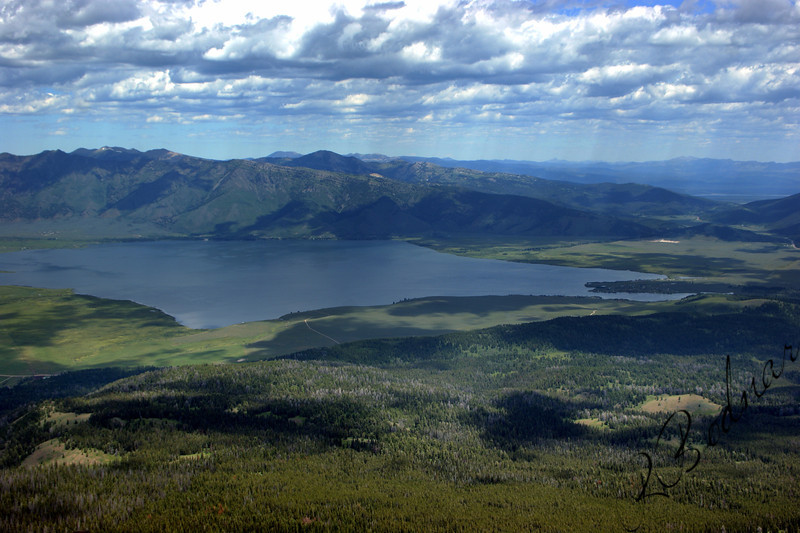 Photo By Bob Bodnar......................Another View of Henry's Lake From Top of Sawtell Mountain.