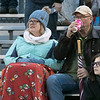 Montachusett Regional Vocational Technical School played Nashoba Valley Technical High School on Wednesday, Nov. 27, 2019 during their Thanksgiving Eve game in Fitchburg. Nashoba Tech Fans try and stay warm during the game. SENTINEL & ENTERPRISE/JOHN LOVE