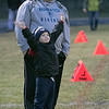 Montachusett Regional Vocational Technical School played Nashoba Valley Technical High School on Wednesday, Nov. 27, 2019 during their Thanksgiving Eve game in Fitchburg. Nashoba Tech fans Matt Richard and his son Bryce, 5, from Groton cheeer from the sidelines of the game. SENTINEL & ENTERPRISE/JOHN LOVE