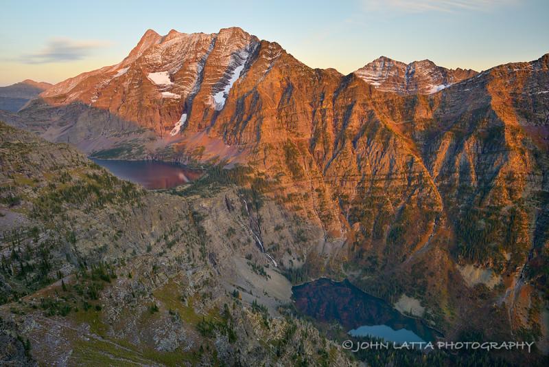Jackson Peak, Lake Ellen Wilson and Lincoln Lake