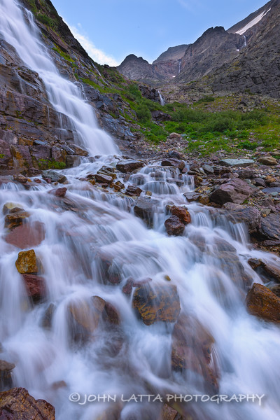 Waterfalls Below Gunsight Pass