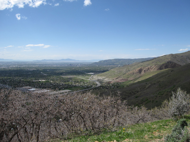View of SLC just above Toby's house.