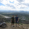 Toby and I overlooking SLC on my first day and ride in Utah
