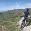 Toby above the University of Utah on some single track.