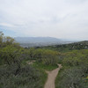 View from I Street Trail overlooking SLC